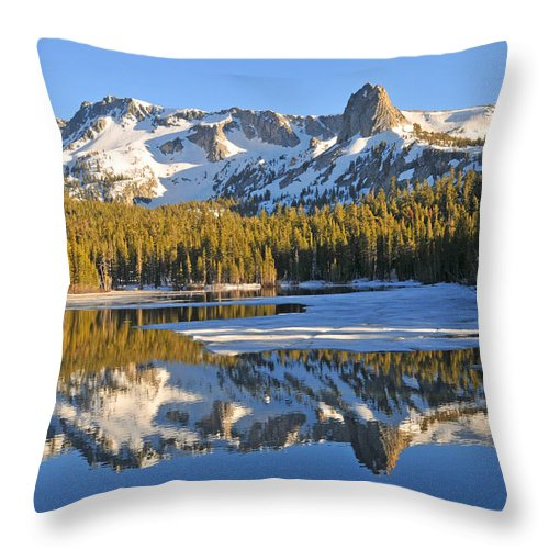 Lakes Throw Pillow featuring the photograph Winter Reflections by Lynn Bauer