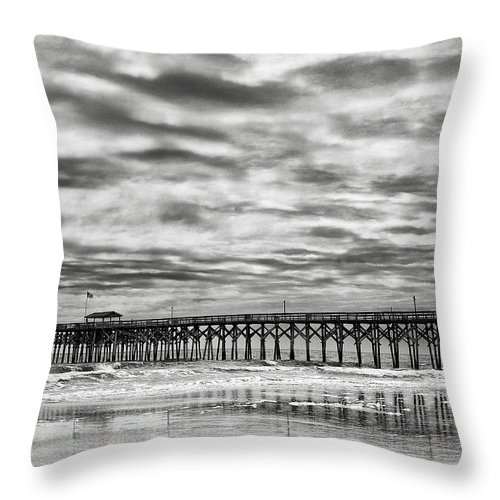 Landscape Throw Pillow featuring the photograph Winter Storm by Fran Gallogly