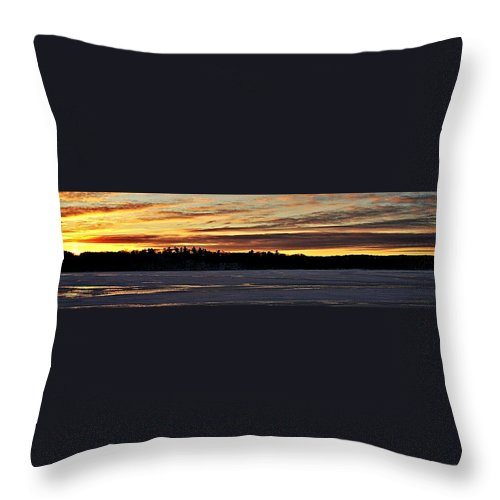 Winter Throw Pillow featuring the photograph Winter Sunset V by Joe Faherty