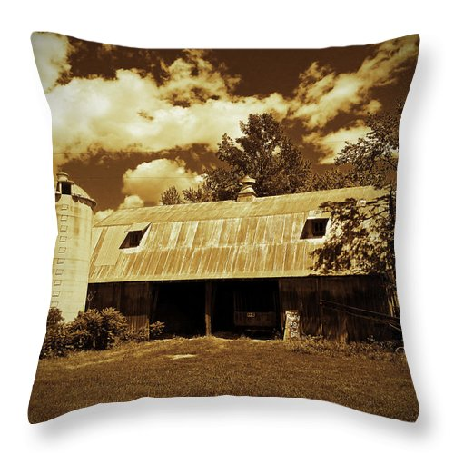 Barn Photographs Throw Pillow featuring the photograph Wisconsin Hay Barn by Ms Judi