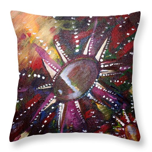 Throw Pillow featuring the painting Wish by Kate Fortin