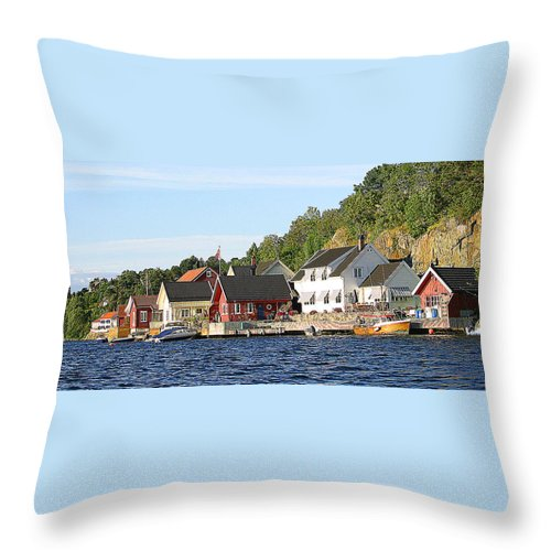Norway Throw Pillow featuring the photograph Wish You Were Here by Nina Fosdick