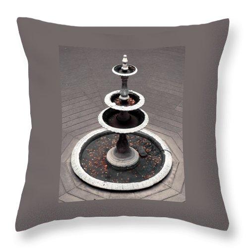Fountain Throw Pillow featuring the photograph Wishing Fountain by Kristen Cavanaugh