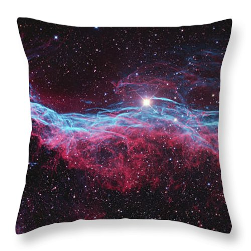 Witches Broom Nebula Throw Pillow featuring the photograph Witchs Broom Nebula by Ken Crawford