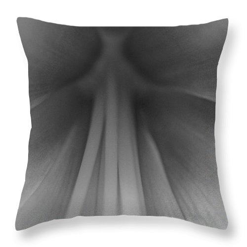 Flower Throw Pillow featuring the photograph Within by Donna Shahan