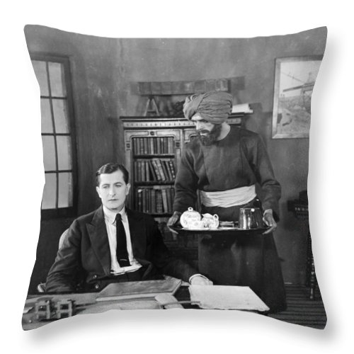 -eating & Drinking- Throw Pillow featuring the photograph Without Benefit Of Clergy by Granger