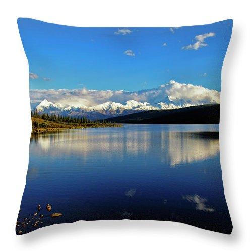 Denali Throw Pillow featuring the photograph Wonder Lake II by Rick Berk