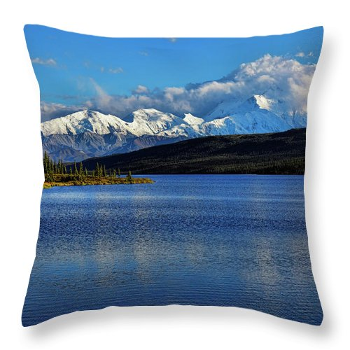 Denali Throw Pillow featuring the photograph Wonder Lake by Rick Berk
