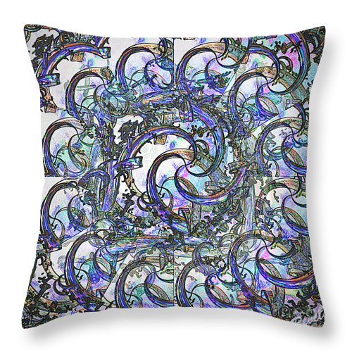 Abstract Throw Pillow featuring the digital art Wonderland by Leslie Revels