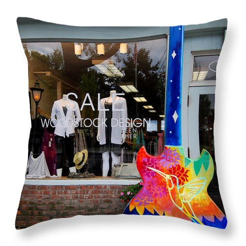 Head Shop Throw Pillow featuring the photograph Woodstock Design by Guy Harnett