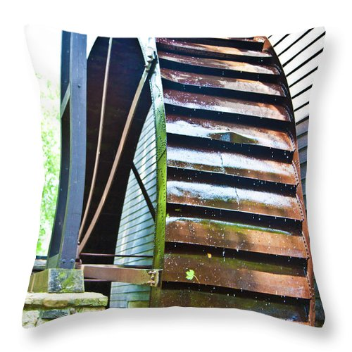 Paint Throw Pillow featuring the photograph Working Wheel by Betsy Knapp