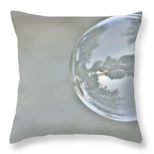 Bubble Throw Pillow featuring the photograph World In A Bubble by Heather Applegate