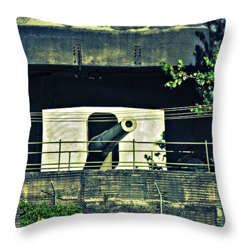 World War Ii Throw Pillow featuring the photograph World War II Canon Darwin Australia by Douglas Barnard