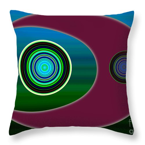 Evolution Throw Pillow featuring the digital art Worlds Second Meal by Tom Hubbard