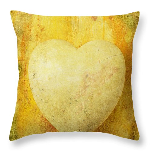 Worn Throw Pillow featuring the photograph Worn Heart by Garry Gay