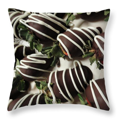 Photograph Throw Pillow featuring the photograph Wrapped In Chocolate by Shannon Grissom