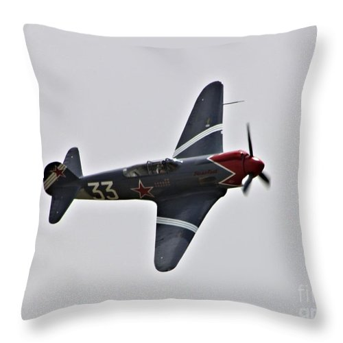 Yakovlek Throw Pillow featuring the photograph Yakovlek Yak 18 by Tommy Anderson