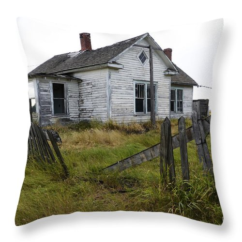 Yard Throw Pillow featuring the photograph Yard Needs A Little Tlc by Bob Christopher