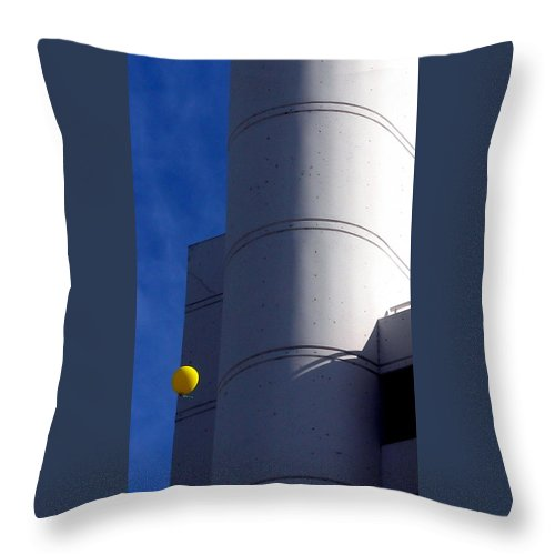 Yellow Balloon Throw Pillow featuring the photograph Yellow Balloon by Jeff Lowe