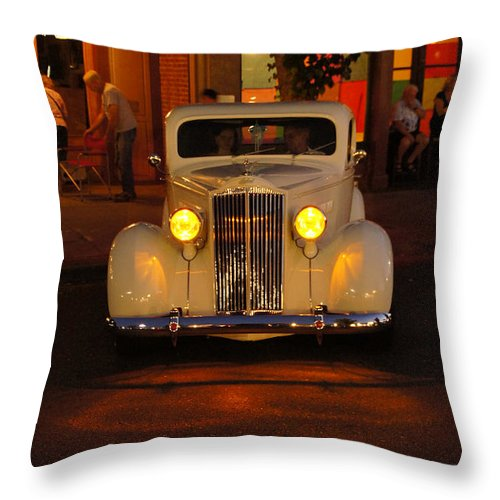 Yellow Throw Pillow featuring the photograph Yellow Lights On by Mick Anderson