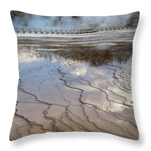 Bronstein Throw Pillow featuring the photograph Yellowstone Reflection by Sandra Bronstein