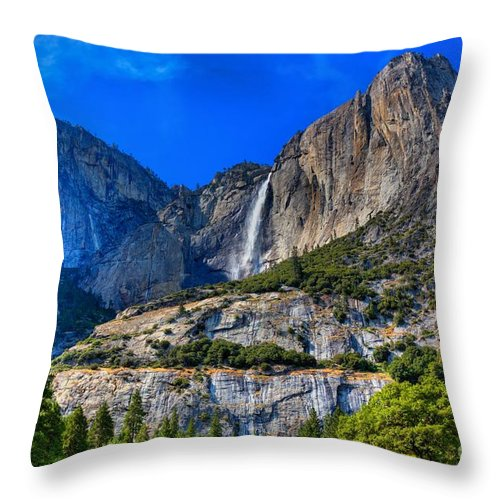Yosemite Falls Throw Pillow featuring the photograph Yosemite Falls by James Anderson