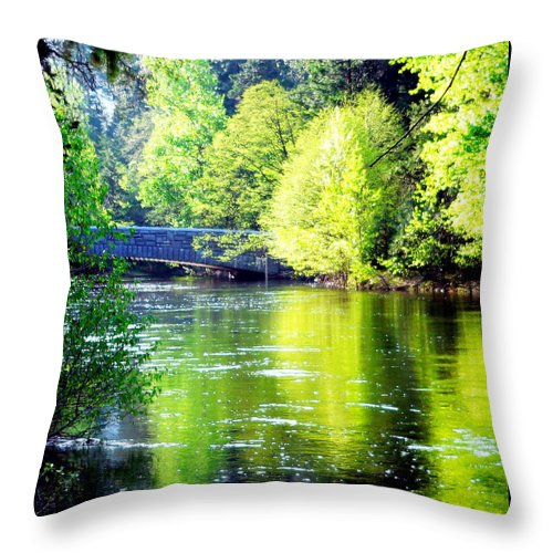 Yosemite National Park Throw Pillow featuring the photograph Yosemite's Merced River by Jeff Lowe
