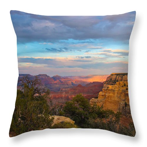 Grand Canyon Throw Pillow featuring the photograph You Draw Me In by Heidi Smith