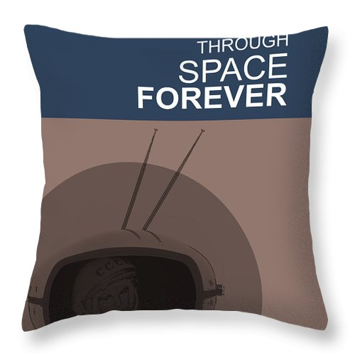 Yuri Throw Pillow featuring the digital art Yuri Gagarin Poster by Naxart Studio