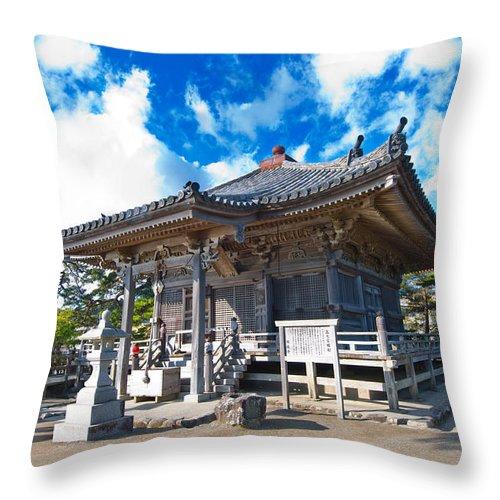 Ancient Throw Pillow featuring the photograph Zen Garden At A Sunny Morning by U Schade