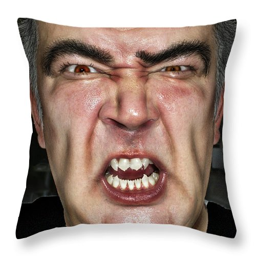 Face Throw Pillow featuring the photograph Zombie by Henri Irizarri