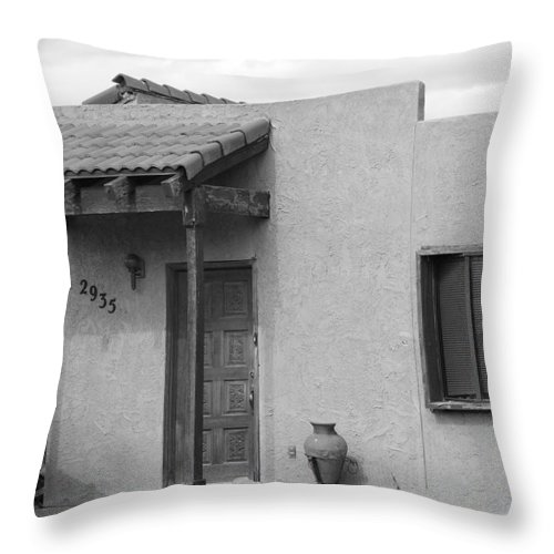 Architecture Throw Pillow featuring the photograph Adobe House by Rob Hans