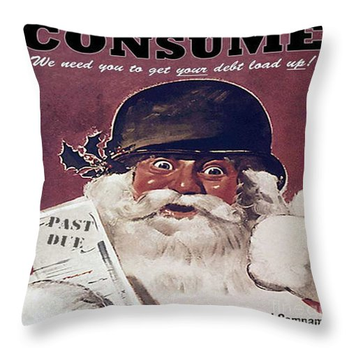 Buy This Buy That Throw Pillow featuring the painting Buy This Buy That by Pd