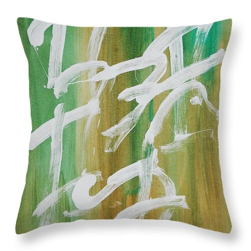 Chinese Throw Pillow featuring the painting Chinese Numbers by Lauren Luna