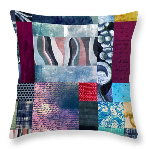 Abstract Background Concept Cool Element Modern Shape Art Artistic Brushed Colorful Contemporary Creative Graphic Modern Original Painted Painting Watercolor Effects Texture Text Letter Flower Design Contour Decoration Composition Abstraite Throw Pillow featuring the painting Composition Abstraite by Ramneek Narang