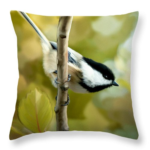 Day Dreams Throw Pillow featuring the painting Day Dreams by Beve Brown-Clark Photography