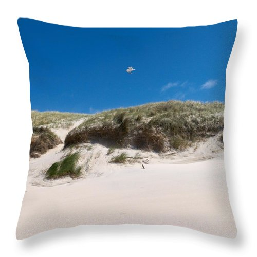Lehtokukka Throw Pillow featuring the photograph Dunes Of Danmark 2 by Jouko Lehto