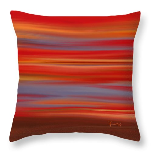 Abstract Throw Pillow featuring the digital art Evening In Ottawa Valley by Rabi Khan