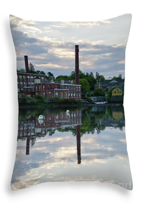 Landscape Throw Pillow featuring the photograph Exeter New Hampshire Usa by Erin Paul Donovan