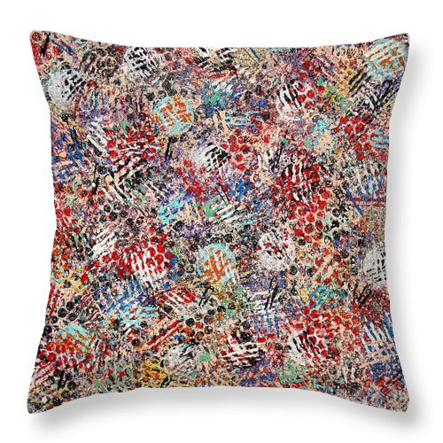 Golf Throw Pillow featuring the painting Golf by Natalie Holland