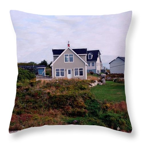 Small Throw Pillow featuring the photograph House by Kathleen Struckle