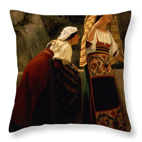Italian Throw Pillow featuring the painting Italian Women From Abruzzo by Sir Lawrence Alma-Tadema