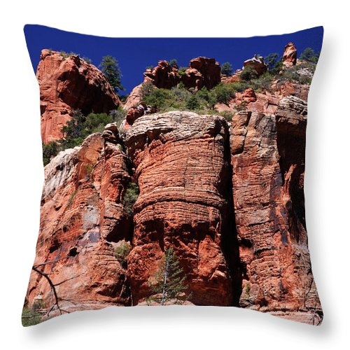 Arizona Throw Pillow featuring the photograph Landscape Oak Creek Canyon by Louis Dallara