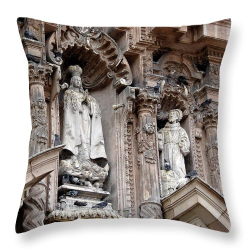 Lima Throw Pillow featuring the photograph Lima Peru Church II by Brett Winn