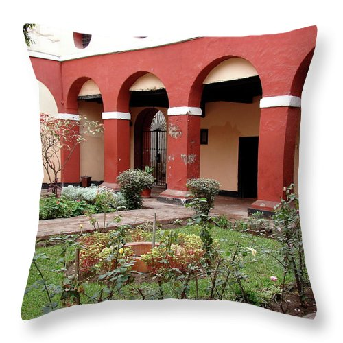 Lima Throw Pillow featuring the photograph Lima Peru Garden by Brett Winn