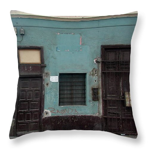 Lima Throw Pillow featuring the photograph Lima Peru Wall by Brett Winn