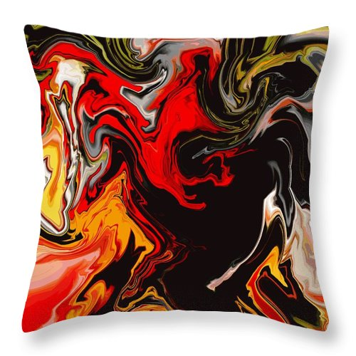 Abstract Throw Pillow featuring the digital art Love Escape by Abel Padilla