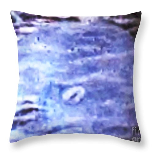 Sealife Throw Pillow featuring the painting Moon Glow On The Seashell by Brenda L Spencer