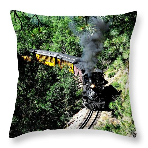 Train Throw Pillow featuring the photograph Nostalgic Moments by Carol Milisen