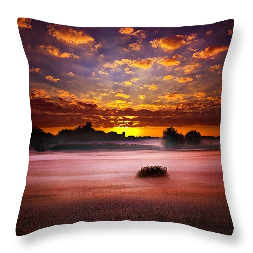 Horizons Throw Pillow featuring the photograph Quiescent by Phil Koch